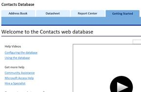 contacts web database