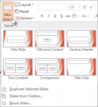 New Slide layouts