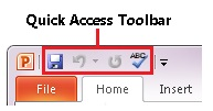 Quick Access Toolbar in PowerPoint 2010