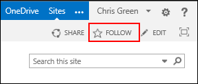 Follow a SharePoint Online site and add the link to your Sites page in Office 365.