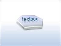 3-D hexagon with 3-D text