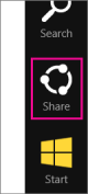 Tap the Share charm to email a report