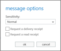 Show message options