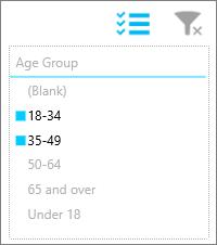 Slicer in Power BI mobile app