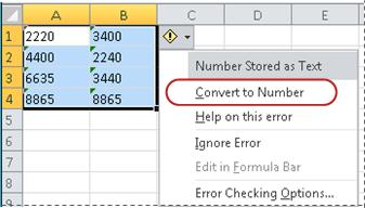 Convert to Number command