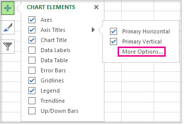 how to add axis titles in excel 2007