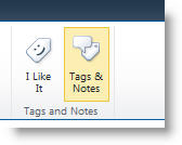 Social tag command on the List or Library tab of the ribbon