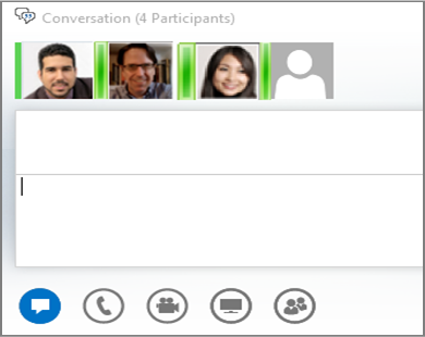 Screenshot of group IM