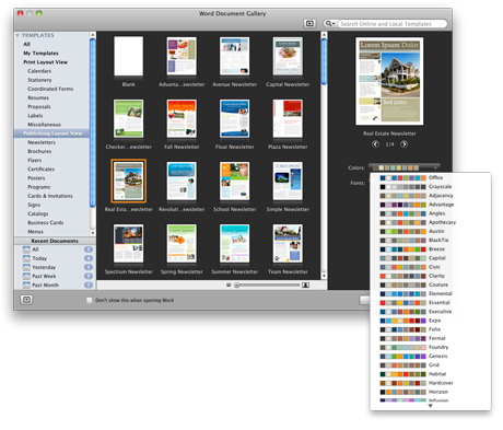 Word Document Gallery