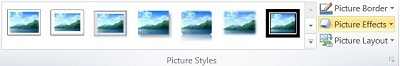 Picture Styles group on the Pictures Tools Format tab