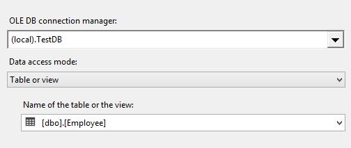 SSIS - OLE DB Connection Manager Settings