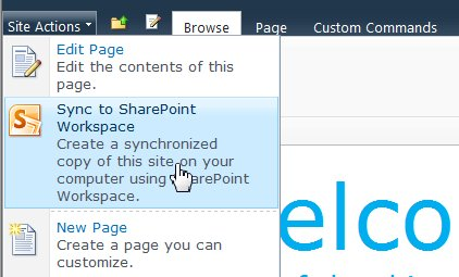 Select this option to sync a SharePoint site to your computer