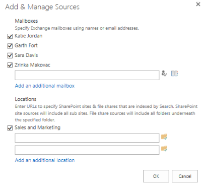 Add and Manage eDiscovery Sources