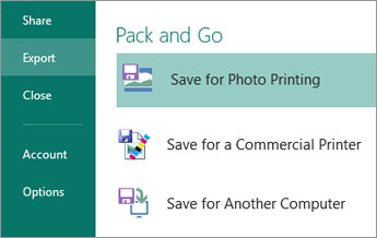 Save for Photo Printing