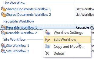 Edit Workflows
