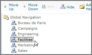 Move Global Navigation
