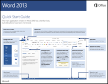 Word 2013 Quick Start Guide