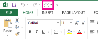 Edit Shape option on the Quick Access Toolbar