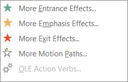 More animation effects in PowerPoint