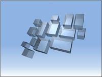 Floating, transparent 3-D rectangles