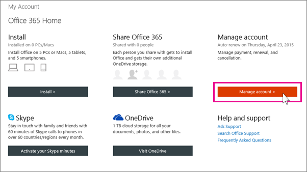 Renew office 365 for home office support - What is an office 365 account ...