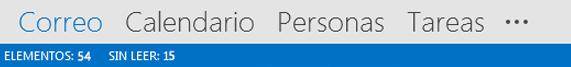 Barra de navegación de Outlook 2013