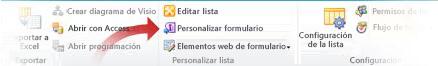 Personalizar formularios con Infopath