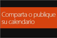 Compartir o publicar el calendario de Office 365