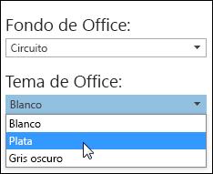 Elegir otro tema de Office