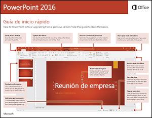 Guía de Inicio rápido PowerPoint 2016 (Windows)