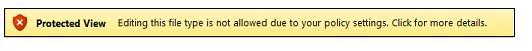 Vista protegida desde el bloqueo de archivos; el usuario no puede editar el archivo