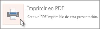 Imprimir diapositivas como PDF