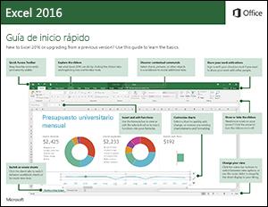 Guía de Inicio rápido Excel 2016 (Windows)