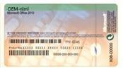 Tietokoneen valmistajalta saatu Certificate of Authenticity -aitoustodistus, joka sisältää Product Key -tuotetunnuksen
