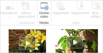 Online-video Word-asiakirjassa