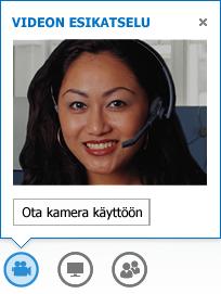 Näyttökuva videon esikatselusta Käynnistä kamera -ominaisuus valittuna
