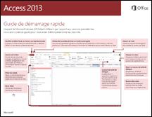 Guide de démarrage rapide d'Access 2013