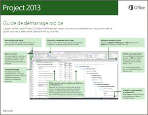 Guide de démarrage rapide de Project2013