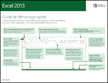 Guide de démarrage rapide d'Excel 2013