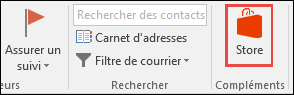 Bouton Store dans Outlook
