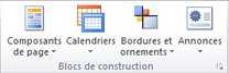 Groupe Blocs de construction dans Publisher 2010