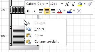Cliquez avec le bouton droit pour coller une forme copiée à l'emplacement du clic
