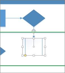 Déposer sur une flèche de connexion automatique