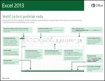 Vodič za brzi početak rada s programom Excel 2013