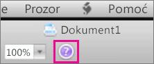 Klikom na upitnik otvorite sustav pomoći za Mac Office