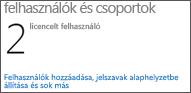 Rendszergazdai irányítópult – Felhasználók és csoportok
