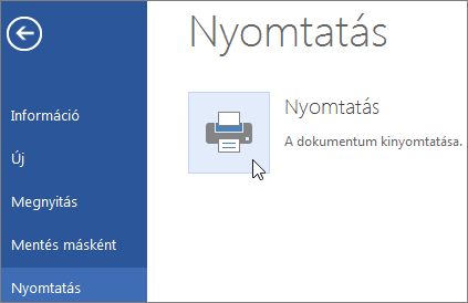A Nyomtatás PDF-fájlba gomb a Word Online-ban