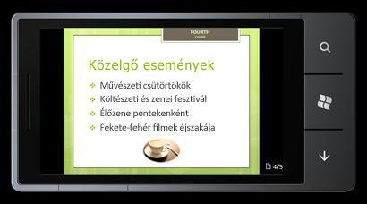 Windows Phone 7-alapú PowerPoint Mobile 2010: Szerkesztés és megtekintés a telefonról