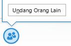Cuplikan layar ikon undang lebih banyak orang dari jendela IM