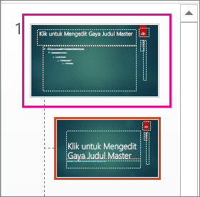 Gambar mini Master Slide dalam Tampilan Master Slide
